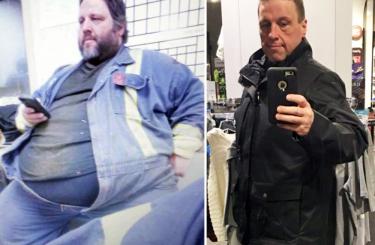 Kanaďan zhubl 147 kg. Motivací byl požár.